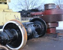 Колесная пара с редуктором ТГК-2 после ремонта