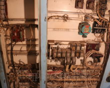 Електричний шкаф ТГМ 4 перед ремонтом