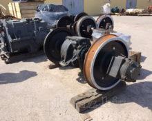 Колісна пара з редуктором ТГК2 після ремонту